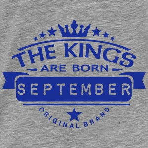 september kings born birth month crown Pullover & Hoodies - Männer Premium T-Shirt