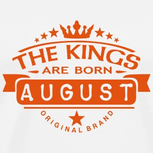 august kings born birth month crown logo Sports wear - Men's Premium T-Shirt