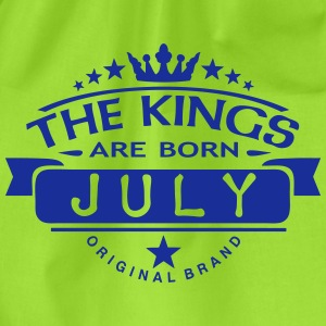 july kings born birth month crown logo Magliette - Sacca sportiva
