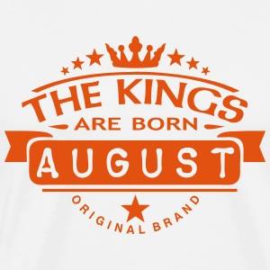 august kings born birth month crown logo  Aprons - Men's Premium T-Shirt