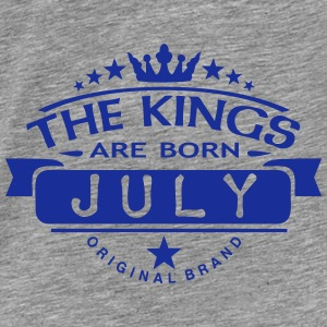 july kings born birth month crown logo Hoodies & Sweatshirts - Men's Premium T-Shirt