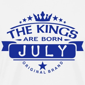july kings born birth month crown logo  Aprons - Men's Premium T-Shirt