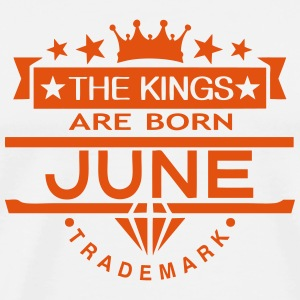june kings born birth month crown logo  Aprons - Men's Premium T-Shirt
