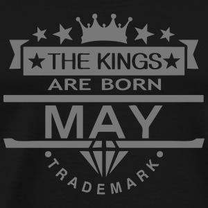 may kings born birth month crown logo  Aprons - Men's Premium T-Shirt