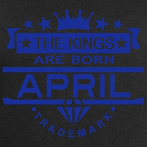 april kings born birth month crown logo  Aprons - Men's Sweatshirt by Stanley & Stella