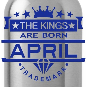 april kings born birth month crown logo Sports wear - Water Bottle