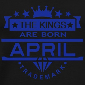 april kings born birth month crown logo Sportbekleidung - Männer Premium T-Shirt