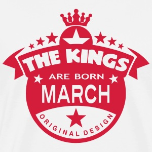 march kings born birth month crown logo  Aprons - Men's Premium T-Shirt