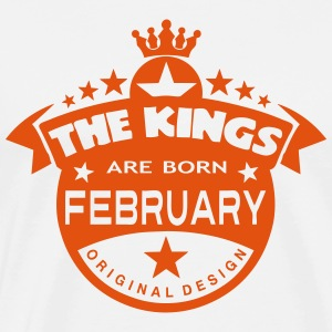 february kings born birth month crown  Aprons - Men's Premium T-Shirt