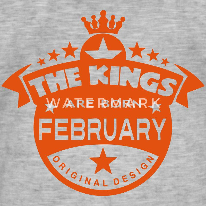 february kings born birth month crown T-Shirts - Men's Vintage T-Shirt