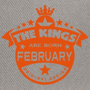 february kings born birth month crown T-Shirts - Snapback Cap
