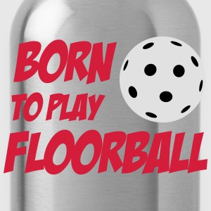 Born To Play Floorball Långärmade T-shirts - Trinkflasche