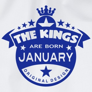 junuary kings born birth month crown Maglie a manica lunga - Sacca sportiva