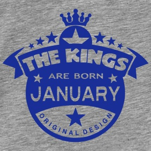 junuary kings born birth month crown Hoodies & Sweatshirts - Men's Premium T-Shirt