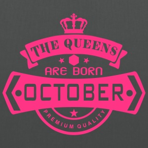 october born queens crown logo Tops - Tote Bag