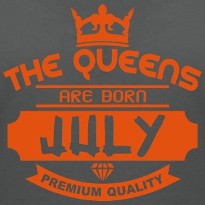 july born queens crown logo Tops - Women's V-Neck T-Shirt