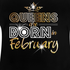 February - Queen - Birthday - 2 Tee shirts - T-shirt Bébé