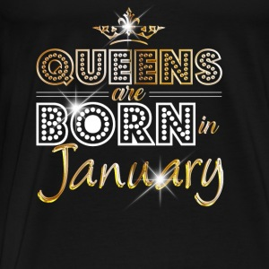 January - Queen - Birthday - 2 Baby Long Sleeve Shirts - Men's Premium T-Shirt