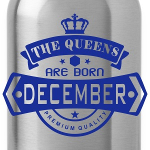 december born queens crown logo Tops - Water Bottle