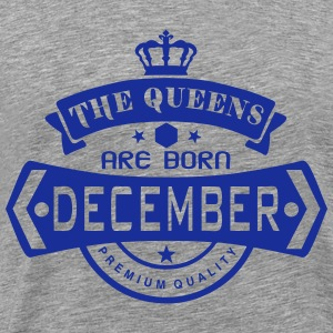 december born queens crown logo Tops - Men's Premium T-Shirt