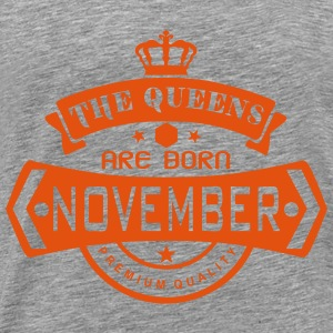 november born queens crown logo Tops - Men's Premium T-Shirt