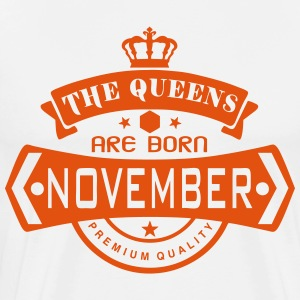 november born queens crown logo  Aprons - Men's Premium T-Shirt
