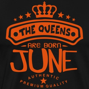 june born queens crown logo  Aprons - Men's Premium T-Shirt