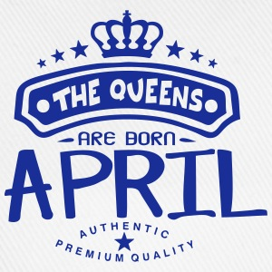 april born queens crown logo T-Shirts - Baseball Cap
