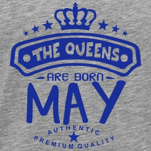 may born queens crown logo Long Sleeve Shirts - Men's Premium T-Shirt