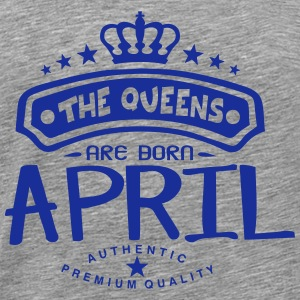 april born queens crown logo Maglie a manica lunga - Maglietta Premium da uomo