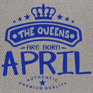 april born queens crown logo Tops - Snapback Cap