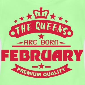 february born queens crown logo Tops - Baby T-Shirt