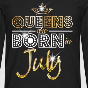 July - Queen - Birthday - 2 T-shirts - Mannen Premium shirt met lange mouwen