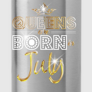 July - Queen - Birthday - 2 Baby Langarmshirts - Trinkflasche
