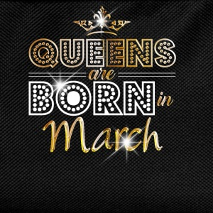 March - Queen - Birthday - 2 T-Shirts - Kids' Backpack