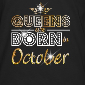 October - Queen - Birthday - 2 Bags & Backpacks - Men's Premium Longsleeve Shirt