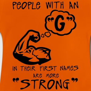 g strong letter first names Zitat T-Shirts - Baby T-Shirt