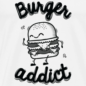 Salt & pepper Burger Addict Hoodies & Sweatshirts - Men's Premium T-Shirt