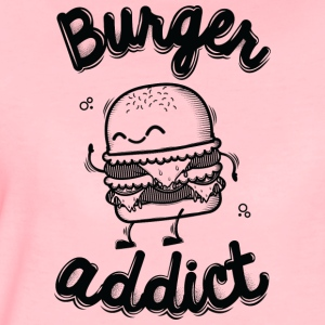 Crystal pink Burger Addict Hoodies & Sweatshirts - Women's Premium T-Shirt