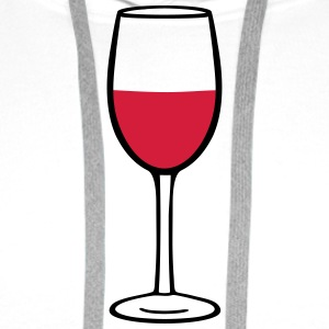 Wine glass T-shirts - Premiumluvtröja herr
