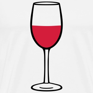Wine glass  Aprons - Men's Premium T-Shirt