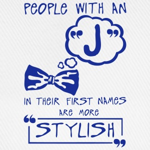 j stylish letter first names Zitat T-Shirts - Baseballkappe