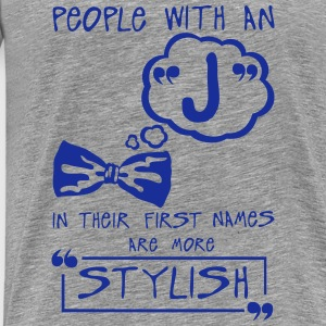 j stylish letter first names citation Hoodies & Sweatshirts - Men's Premium T-Shirt