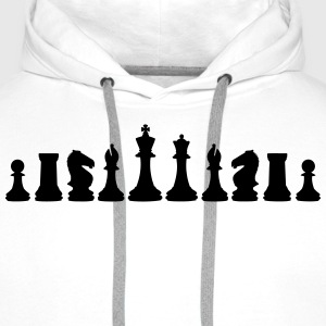 Chess, chess pieces T-shirts - Premiumluvtröja herr