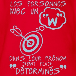 w determine prenom citation lettre perso Tee shirts - Body bébé bio manches courtes