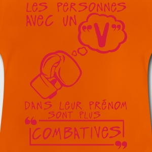 v combative prenom citation lettre perso Tee shirts - T-shirt Bébé