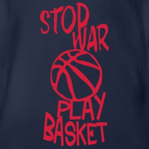 basketball play stop war quote citation Shirts - Organic Short-sleeved Baby Bodysuit