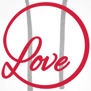 love Liebe circle typography graphic font Tops - Men's Premium Hoodie