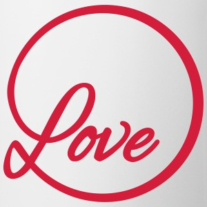 love Liebe circle typography graphic font Tops - Mug