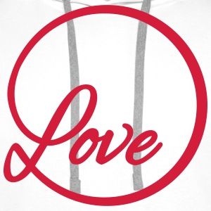 love Liebe circle typography graphic font Shirts - Men's Premium Hoodie